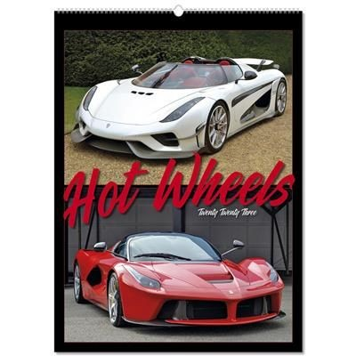 Picture of HOT WHEELS 8 LEAF WALL CALENDAR