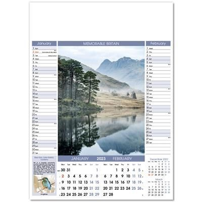 Picture of MEMORABLE BRITAIN 6 LEAF WALL CALENDAR
