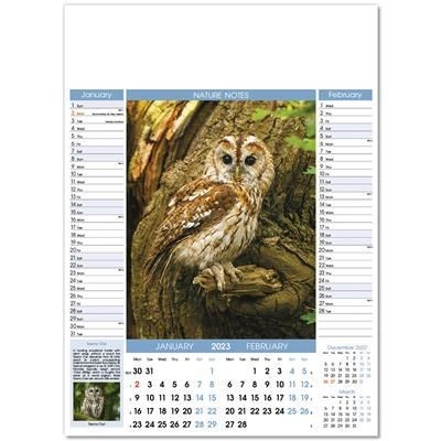 Picture of NATURE NOTES 6 LEAF WALL CALENDAR