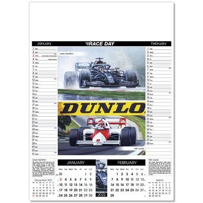 Picture of RACE DAY WALL CALENDAR
