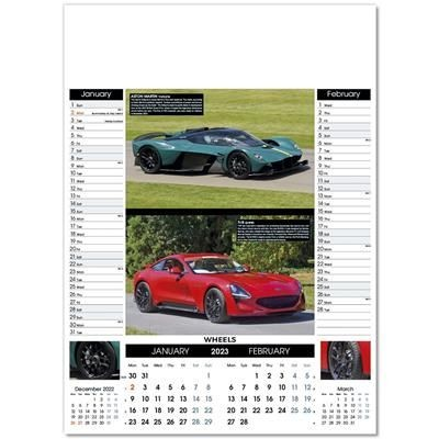 Picture of WHEELS 6 LEAF WALL CALENDAR