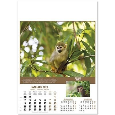 Picture of WILDLIFE OF THE WORLD WALL CALENDAR