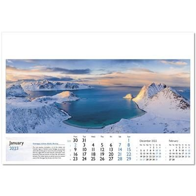 Picture of WORLD IN VIEW WALL CALENDAR