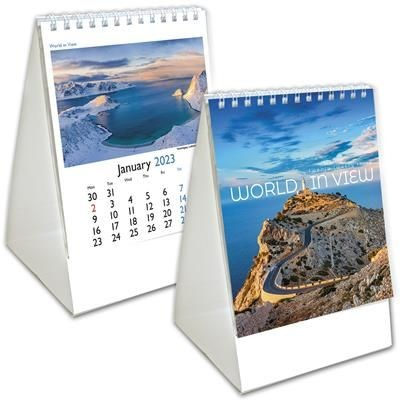 Picture of WORLD in View Mini Desk Calendar