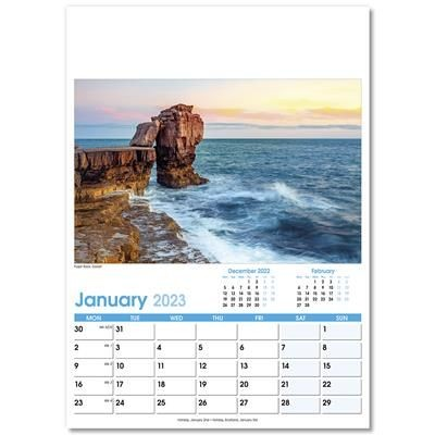 Picture of ENGLAND OPTIMA WALL 12 LEAF CALENDAR