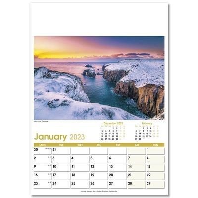 Picture of ASPECTS OPTIMA WALL 12 LEAF CALENDAR