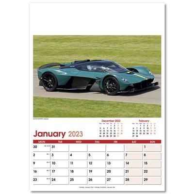 Picture of FAST CARS OPTIMA WALL 12 LEAF CALENDAR