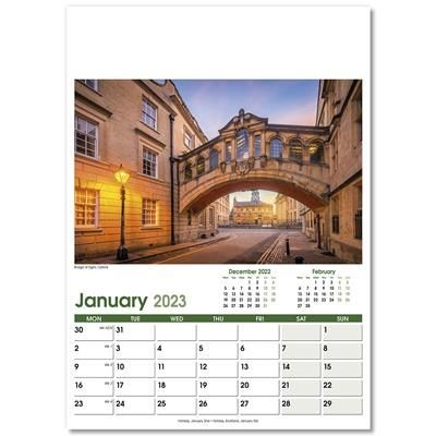 Picture of HERITAGE OPTIMA WALL 12 LEAF CALENDAR