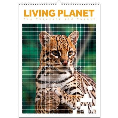Picture of LIVING PLANET OPTIMA WALL 12 LEAF CALENDAR