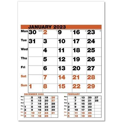 Picture of DATE FINDER WALL CALENDAR