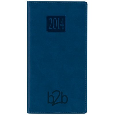 Picture of MATANZA WEEK TO VIEW PORTRAIT POCKET DIARY in Blue, Black, Burgundy,Green & Red with Padded Cover