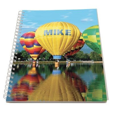 Picture of PERSONALISED SPIRAL WIRO BOUND NOTE PAD