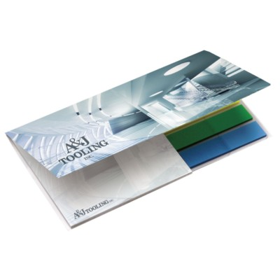 Picture of BIC 75MM X 75MM ADHESIVE NOTE PAD with Flag Booklet