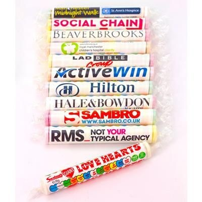 Picture of PERSONALISED BRANDED GIANT LOVE HEARTS SWEETS ROLL