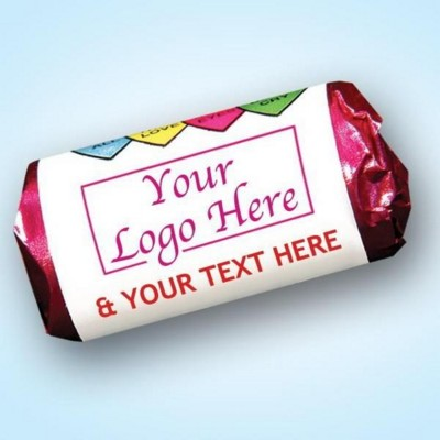 Picture of LOVE HEARTS SWEETS ROLL with Personalised Wrapper
