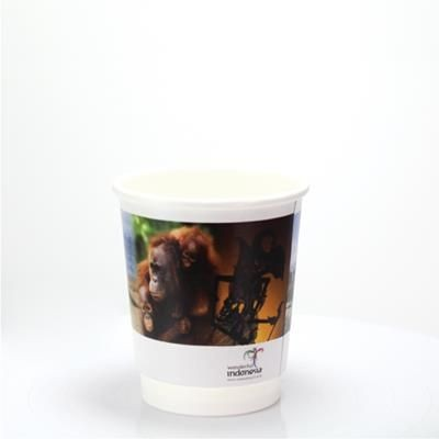 Picture of DOUBLE WALLED PAPER CUP - FULL COLOUR 8OZ-230ML