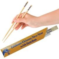 Picture of BAMBOO DISPOSABLE SNAP CHOPSTICK SET - 23CM