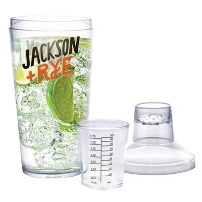 Picture of PLASTIC COCKTAIL SHAKER in Clear Transparent