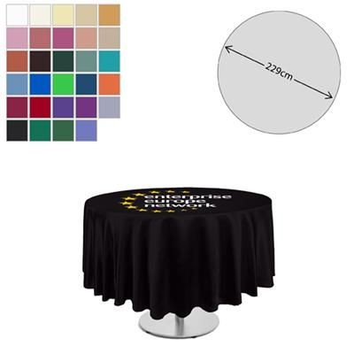 Picture of FABRIC ROUND TABLE CLOTH 229CM DIAMETER