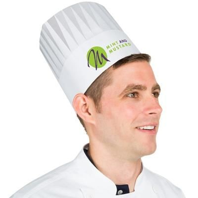 Picture of PAPER COMMIS CHEF HAT in White
