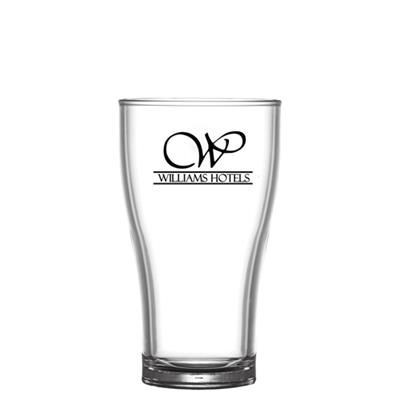 Picture of REUSABLE CONICAL BEER GLASS 284ML-10OZ-HALF PINT