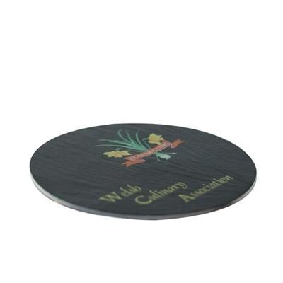 Picture of ROUND SLATE COASTER 10CM