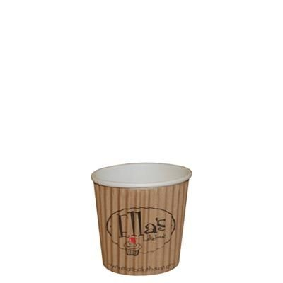 Picture of RIPPLED PAPER CUP - FULL COLOUR 4OZ-115ML
