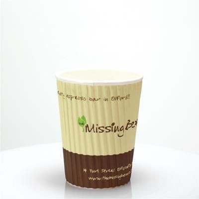 Picture of RIPPLED PAPER CUP - FULL COLOUR 8OZ-230ML