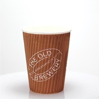 Picture of RIPPLED PAPER CUP - FULL COLOUR 12OZ-340ML