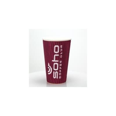 Picture of RIPPLED PAPER CUP - FULL COLOUR 16OZ-455ML
