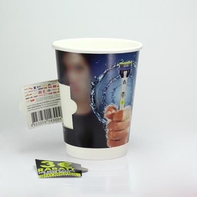 Picture of COUPON PAPER CUP DOUBLE WALLED - FULL COLOUR 12OZ-340ML