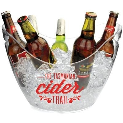 Picture of CLEAR TRANSPARENT PLASTIC CHAMPAGNE BUCKET in Large