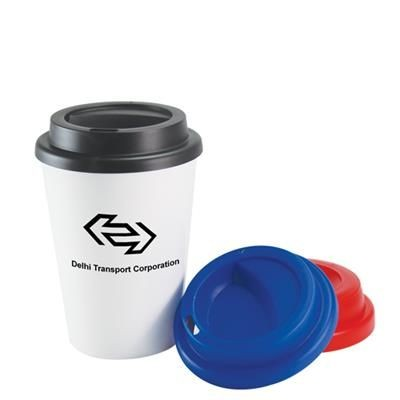 Picture of PLASTIC DOUBLE WALL TAKE OUT COFFEE CUP 12OZ-340ML
