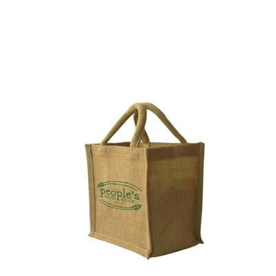 Picture of SMALL JUTE SHOPPER TOTE BAG 200 X 200 + 150MM
