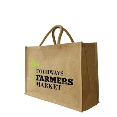 Picture of LARGE JUTE SHOPPER TOTE BAG 470 X 330 + 180MM