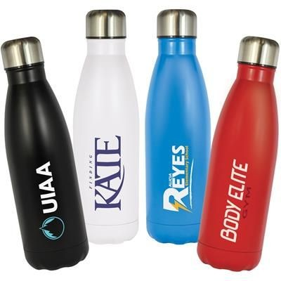 Picture of REFRESH DOUBLE WALL STAINLESS STEEL METAL WATER BOTTLE 500ML