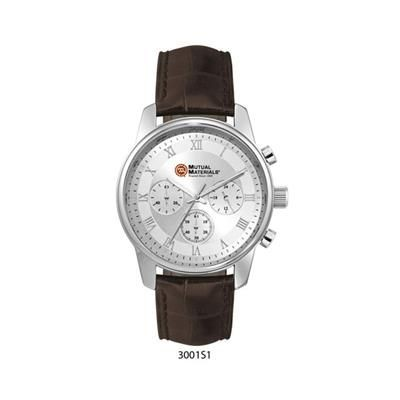 Picture of MENS CHRONOGRAPH WATCH with Brown Leather Strap