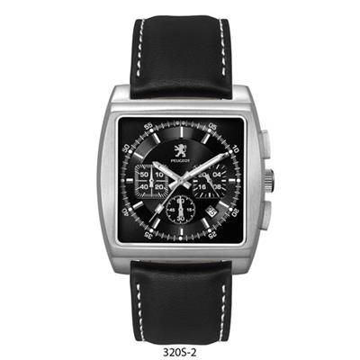 Picture of UNISEX CD EFFECT BLACK SUNRAY DIAL CHRONOGRAPH WATCH