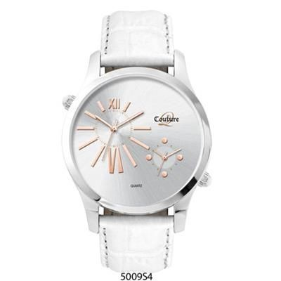 Picture of ROSE GOLD SILVER DIAL STYLISH UNISEX WATCH