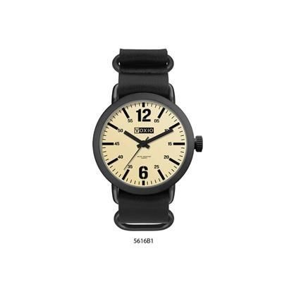 Picture of BLACK IONIC PLATED MENS WATCH