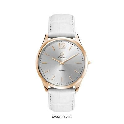 Picture of ULTRA SLIM ROSE GOLD LADIES AND GENTS WATCH in White
