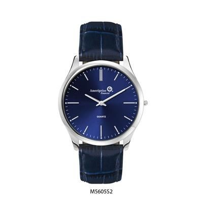 Picture of ULTRA SLIM MATCHING LADIES & GENTS STAINLESS STEEL METAL WATCH in Blue