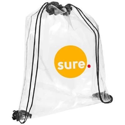 Picture of CLEAR TRANSPARENT PVC DRAWSTRING BAG