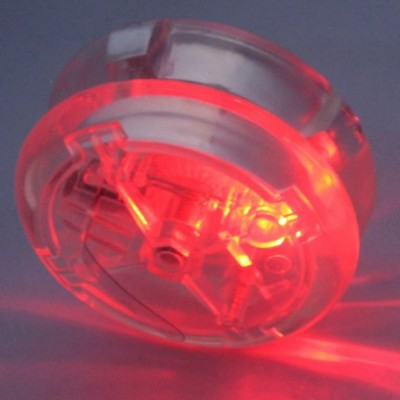 Picture of ROUND FLASHING LIGHT UP CLUTCH YOYO in Transparent Clear Transparent Plastic