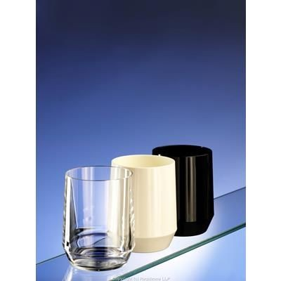 Picture of PREMIUM REUSABLE UNBREAKABLE PLASTIC GLASS in White Black & Clear Transparent