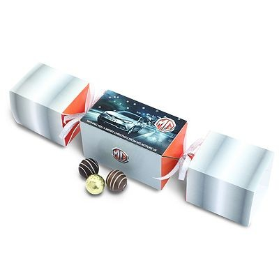 Picture of PERSONALISED CHOCOLATE TRUFFLE CHRISTMAS CRACKER