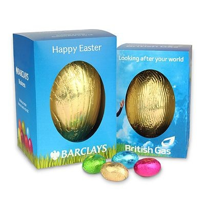 Picture of PERSONALISED LARGE CHOCOLATE EASTER EGG in Gift Box