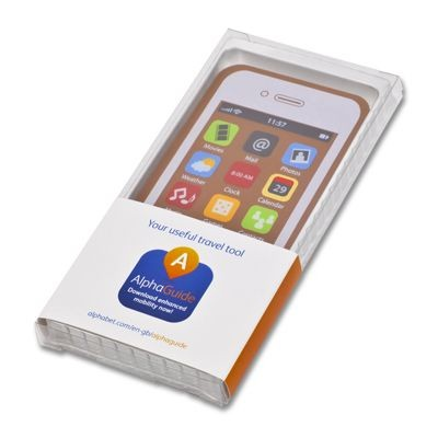 Picture of CHOCOLATE SMARTPHONE with Branded Sleeve to the Chocolate Box