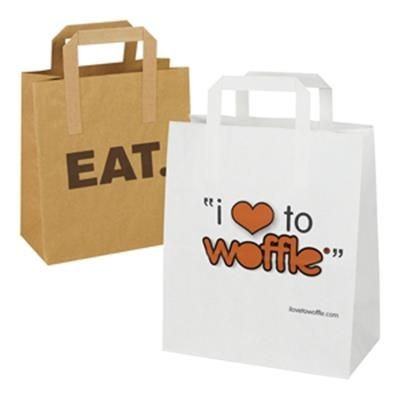 Picture of SOS FLAT TAPE PAPER CARRIER BAG with External Handles