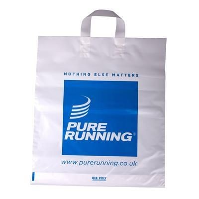 Picture of FLEXI LOOP POLYTHENE PLASTIC CARRIER BAG in White